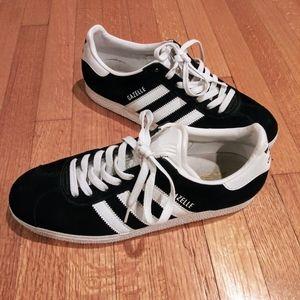 Adidas | Gazelle Black/White Leather Sneaker Sz 9